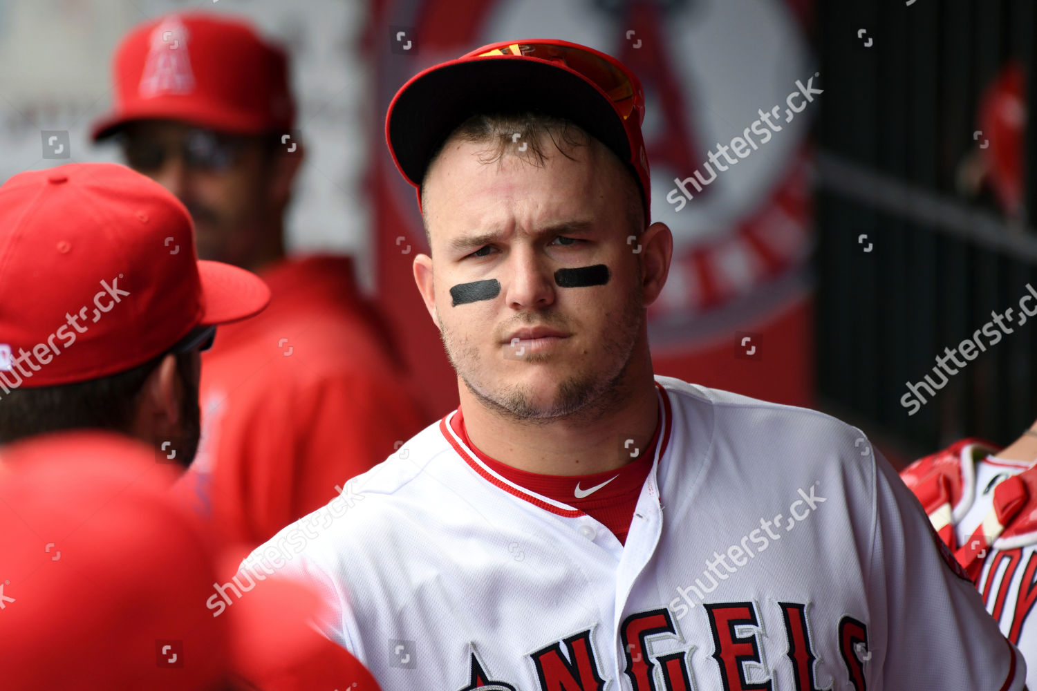 0d82b38d6 Los Angeles Angels Mike Trout dugout before Editorial Stock Photo ...
