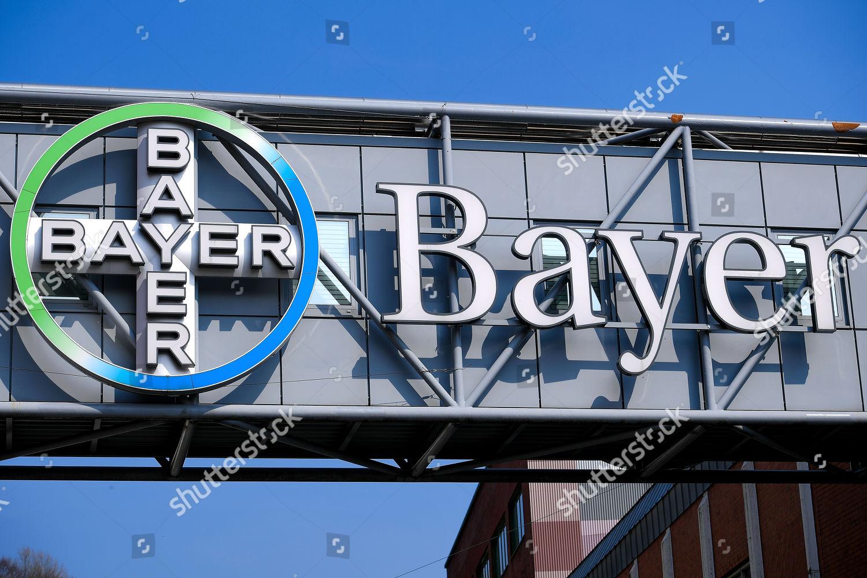 logo German pharmaceutical giant Bayer AG seen Editorial