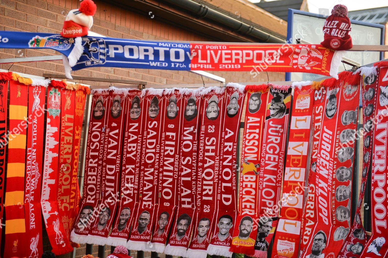 Merchandise on sale ahead UEFA Champions League Editorial