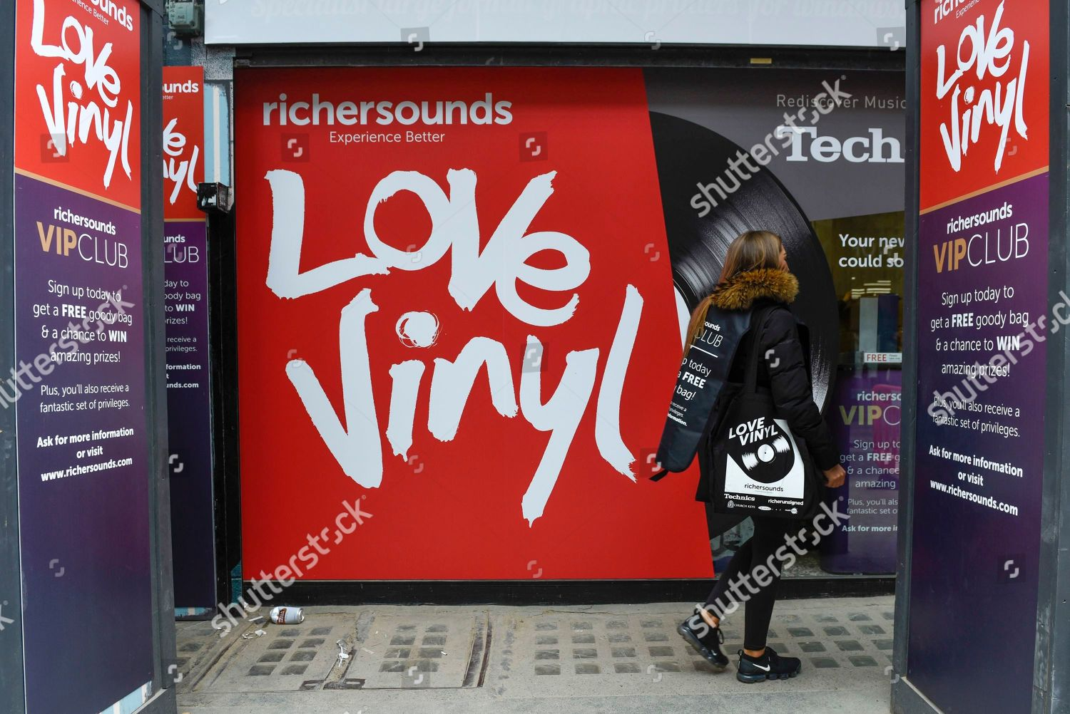 Vinyl music promotion Analogue music fans visit Editorial Stock