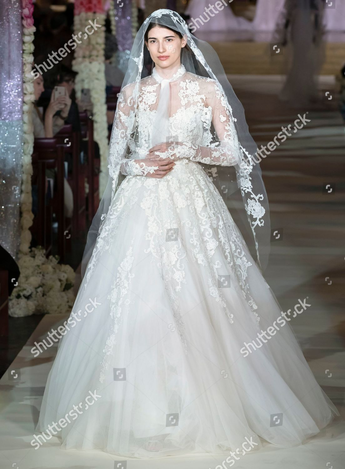 914f5f62610a Reem Acra Bridal show, Runway, Spring 2020, Bridal Fashion Week, New York,  USA Stock Image by Ovidiu Hrubaru for editorial use, Apr 11, 2019