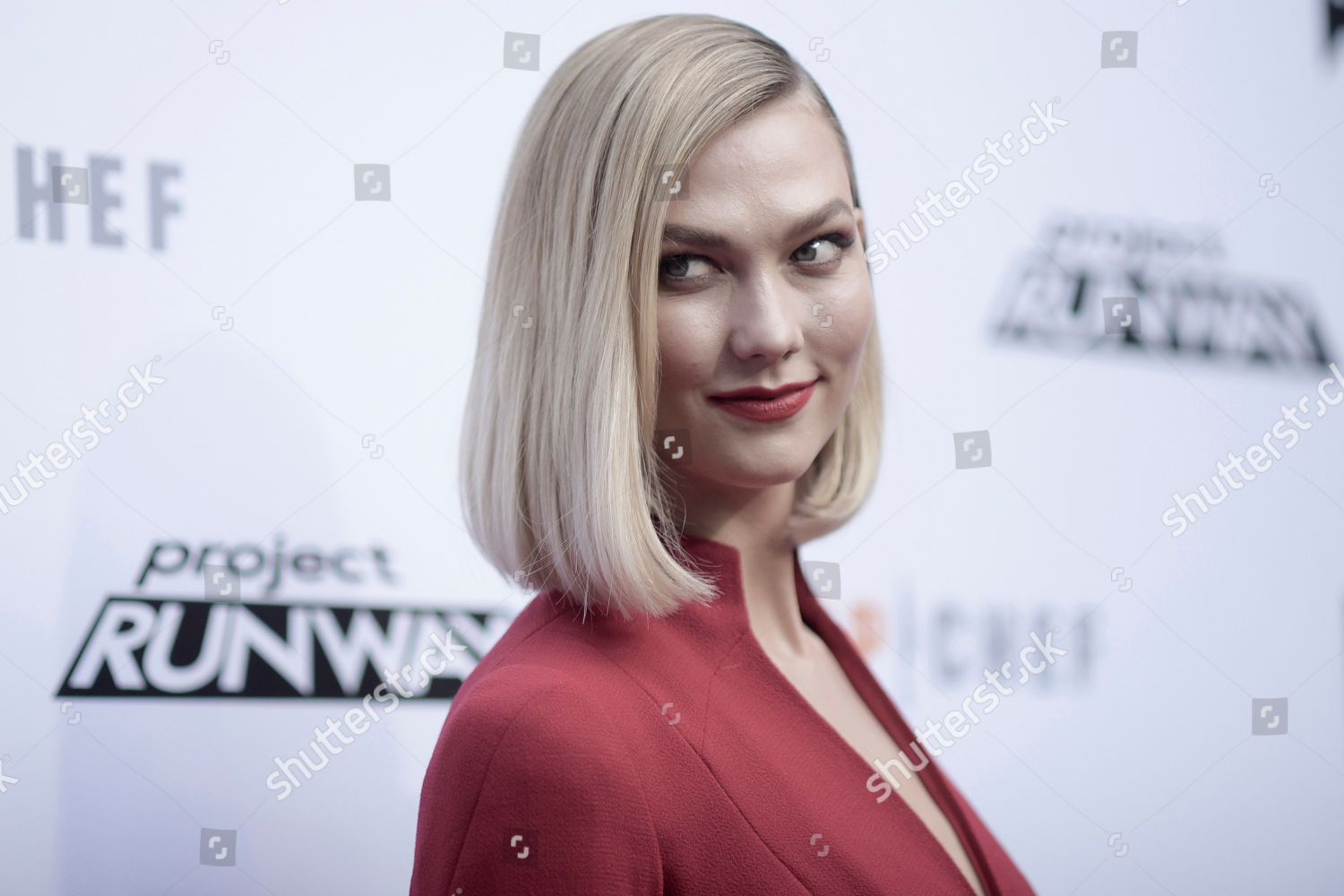 Karlie Kloss Attends Top Chef Project Runway Editorial Stock Photo