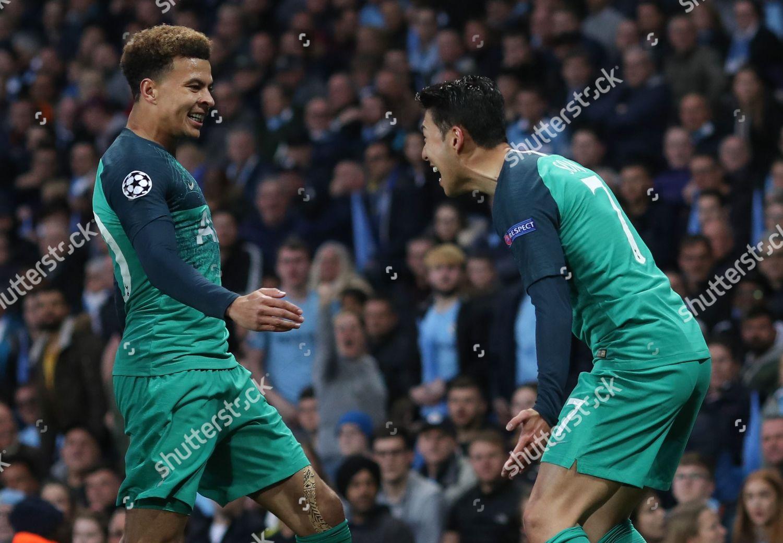 Son Heungmin Tottenham Hotspur Celebrates Scoring Dele Editorial Stock Photo Stock Image Shutterstock