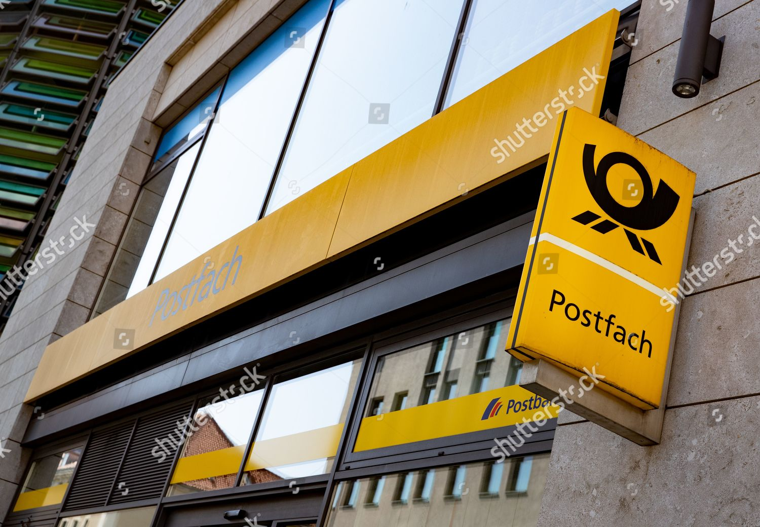 German post office sign pictures Berlin Germany Editorial