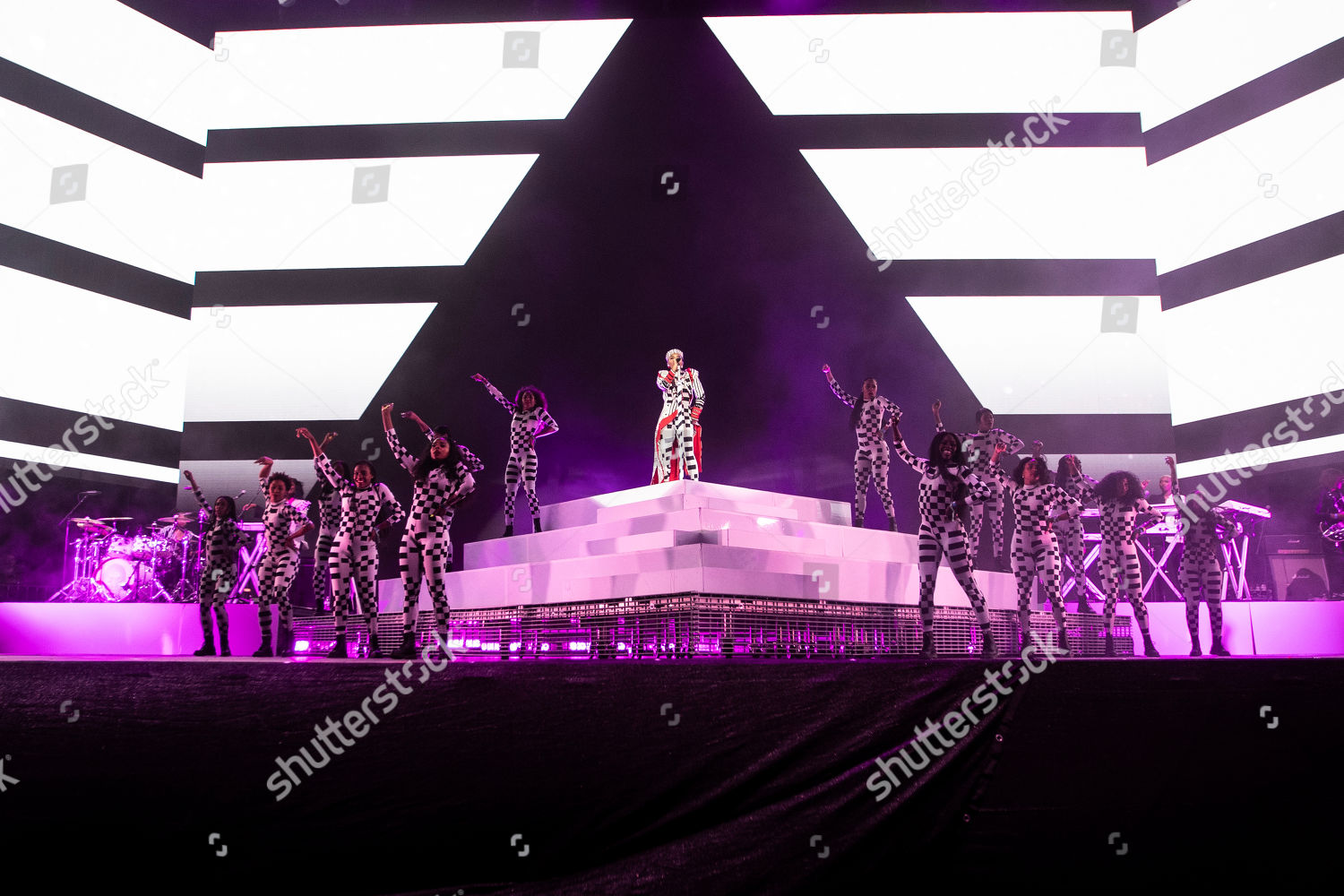 Janelle Monae performs on stage during Coachella Editorial