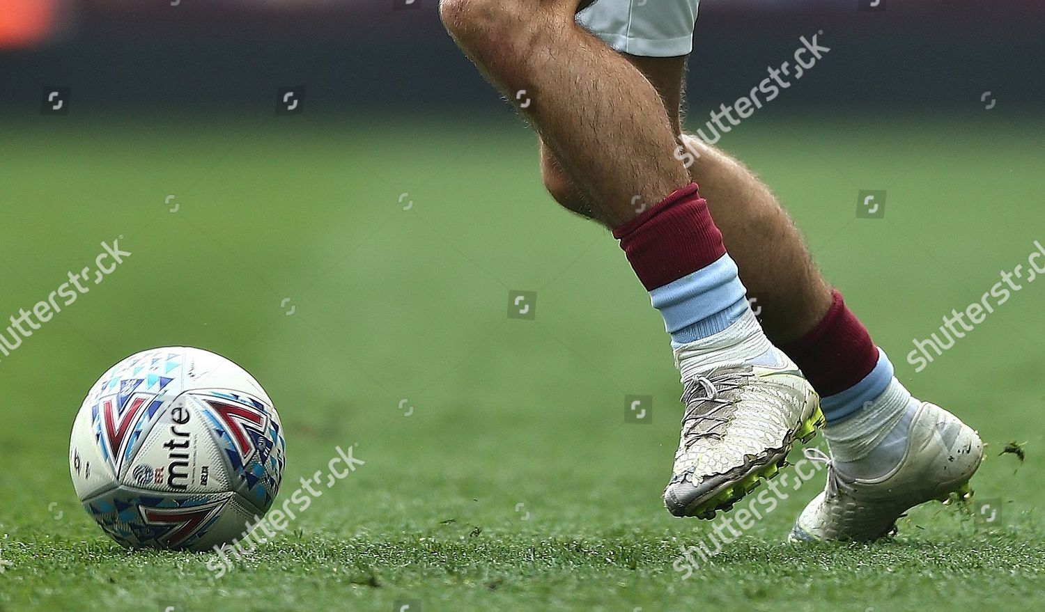 Worn out Nike football boots Jack Grealish Editorial Stock Photo