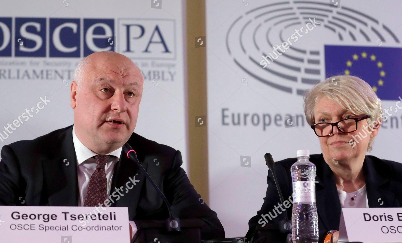 George Tsereteli OSCE Special Coordinator left speaks Editorial