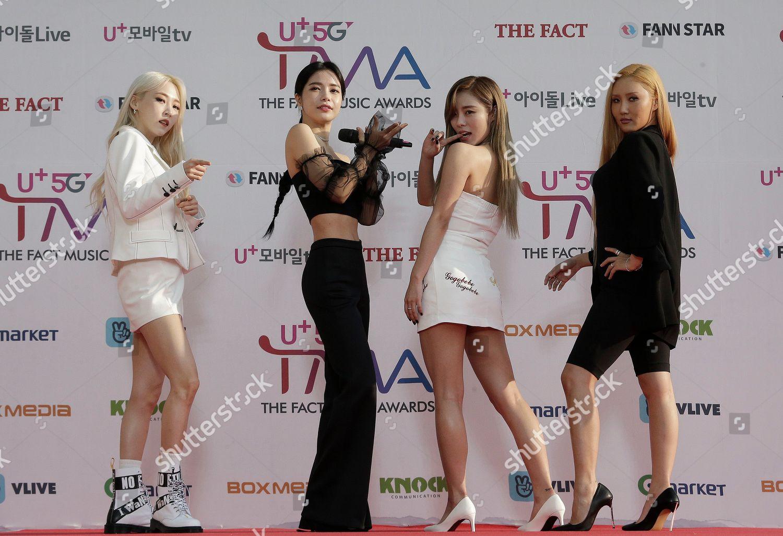 Members South Korean KPop group Mamamoo pose Editorial Stock Photo