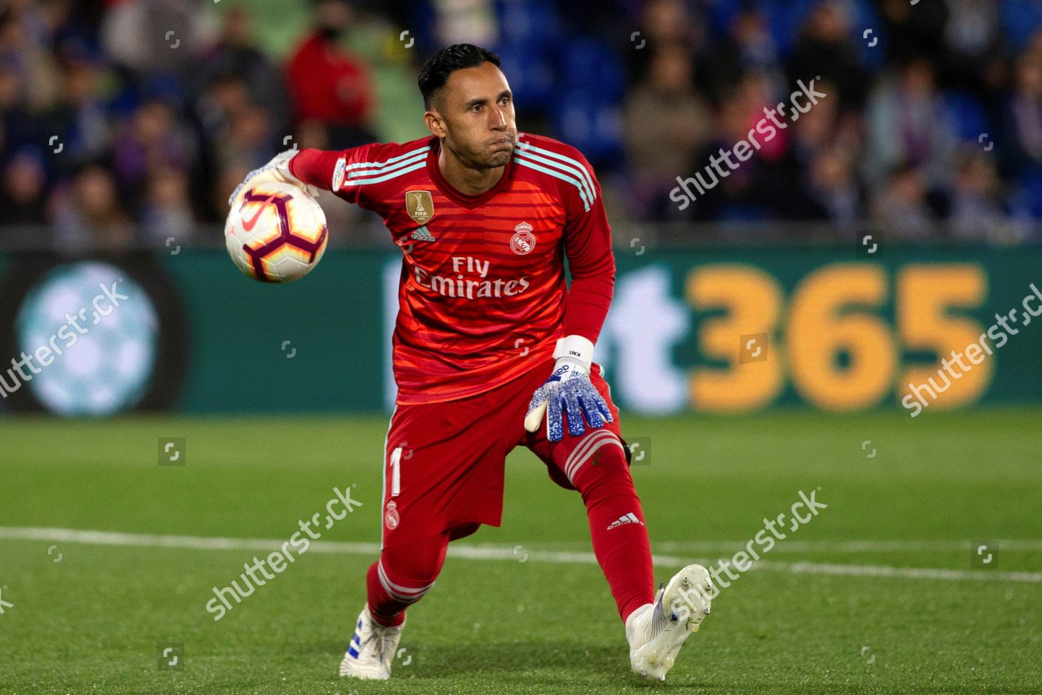 Real Madrids Goalkeeper Keylor Navas Action During Editorial Stock