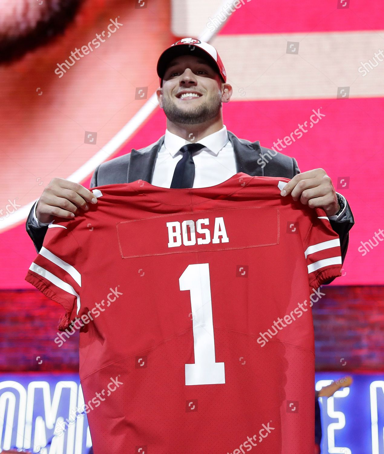 more photos 3167b 3ab5e Ohio State defensive end Nick Bosa shows Editorial Stock ...