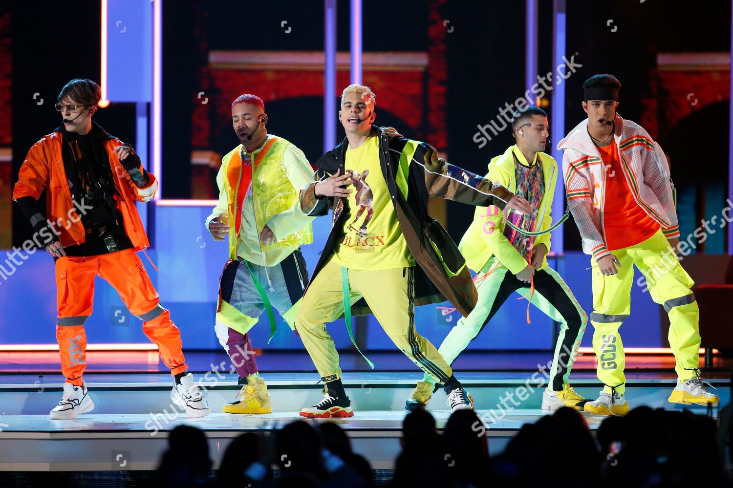 CNCO performs Pretend Billboard Latin Music Awards Editorial Stock