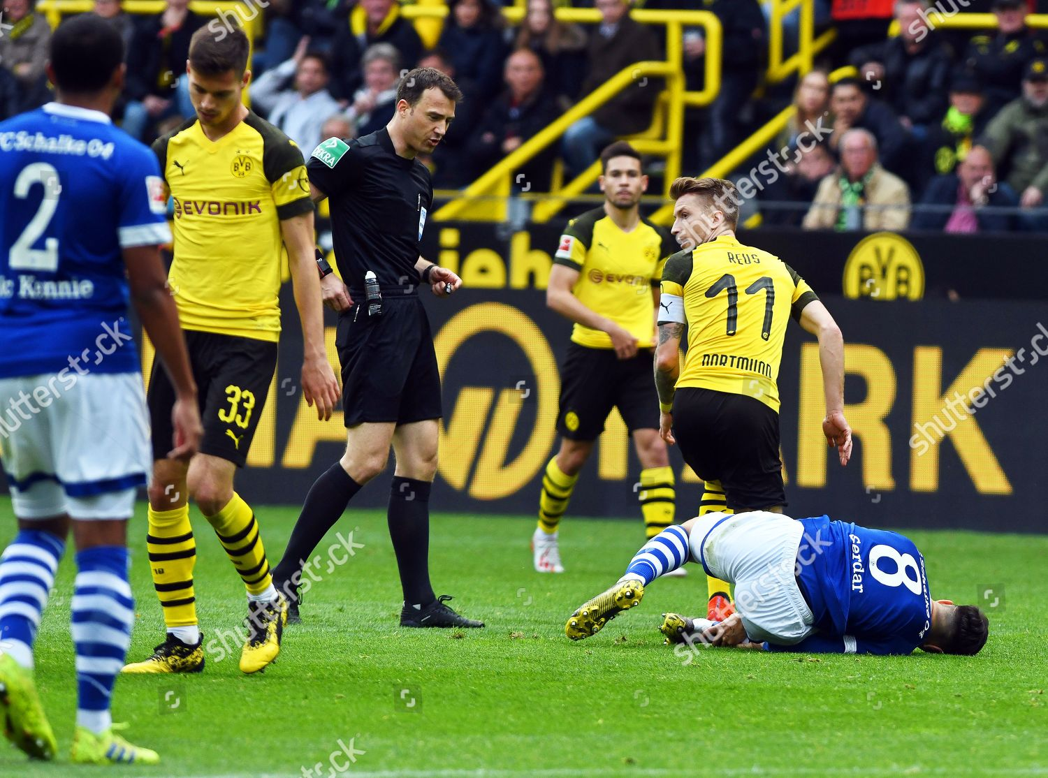 Dortmunds Marco Reus 2r Sent Off By Editorial Stock Photo Stock Image Shutterstock