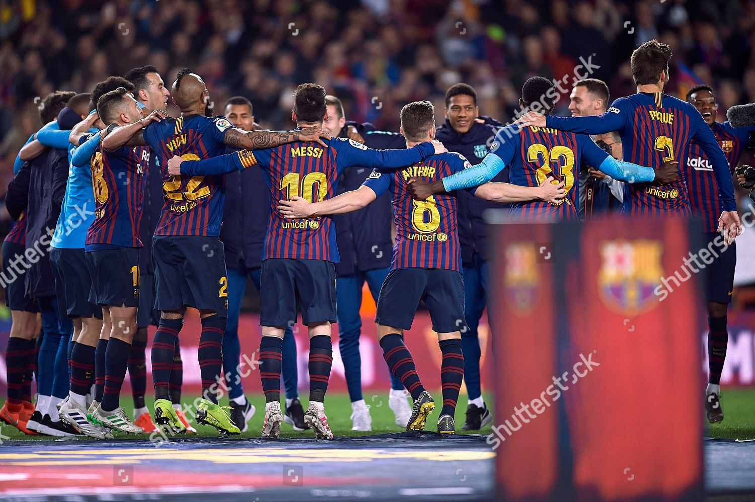fc barcelona players celebrating championship editorial stock photo stock image shutterstock 2