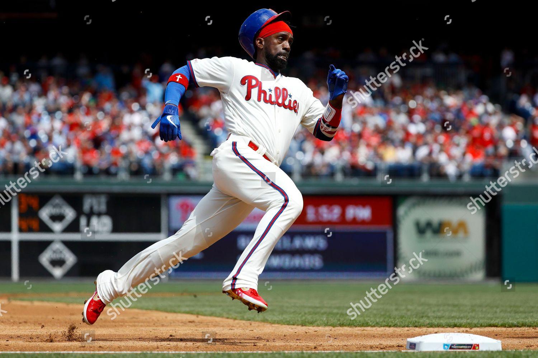 7f4b36ad4aa Philadelphia Phillies Andrew McCutchen rounds third base Editorial ...