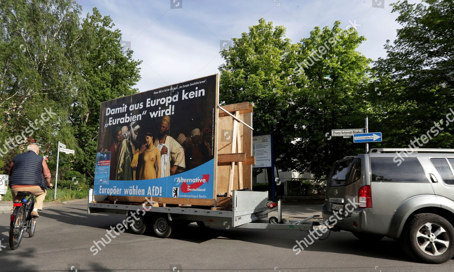 mobile election campaign poster German Alternative fuer