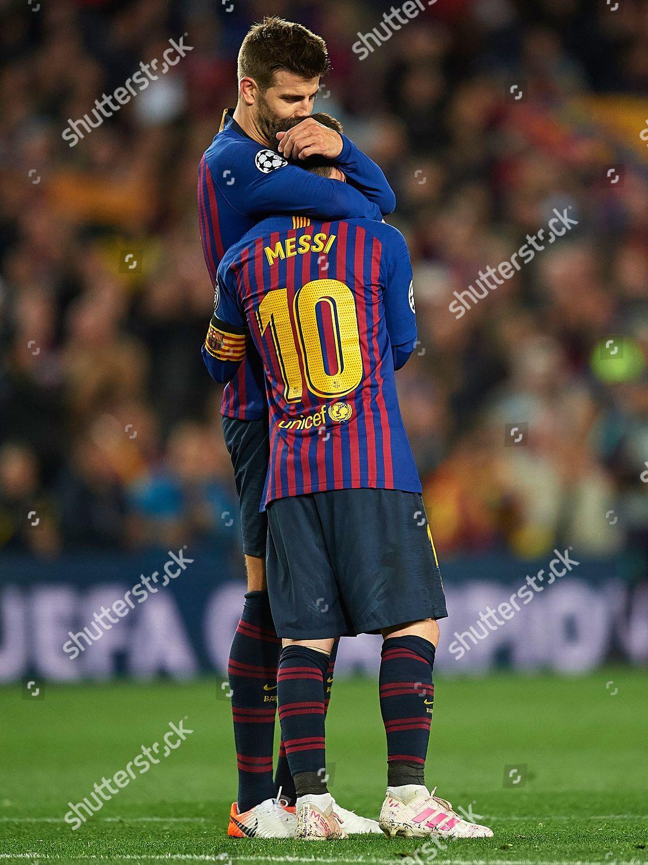 07063d6e876 Gerard Pique FC Barcelona kisses Lionel Messi Editorial Stock Photo ...