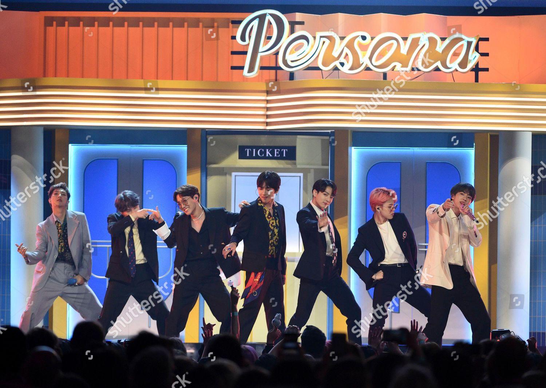 BTS perform Boy Luv Billboard Music Awards Editorial Stock
