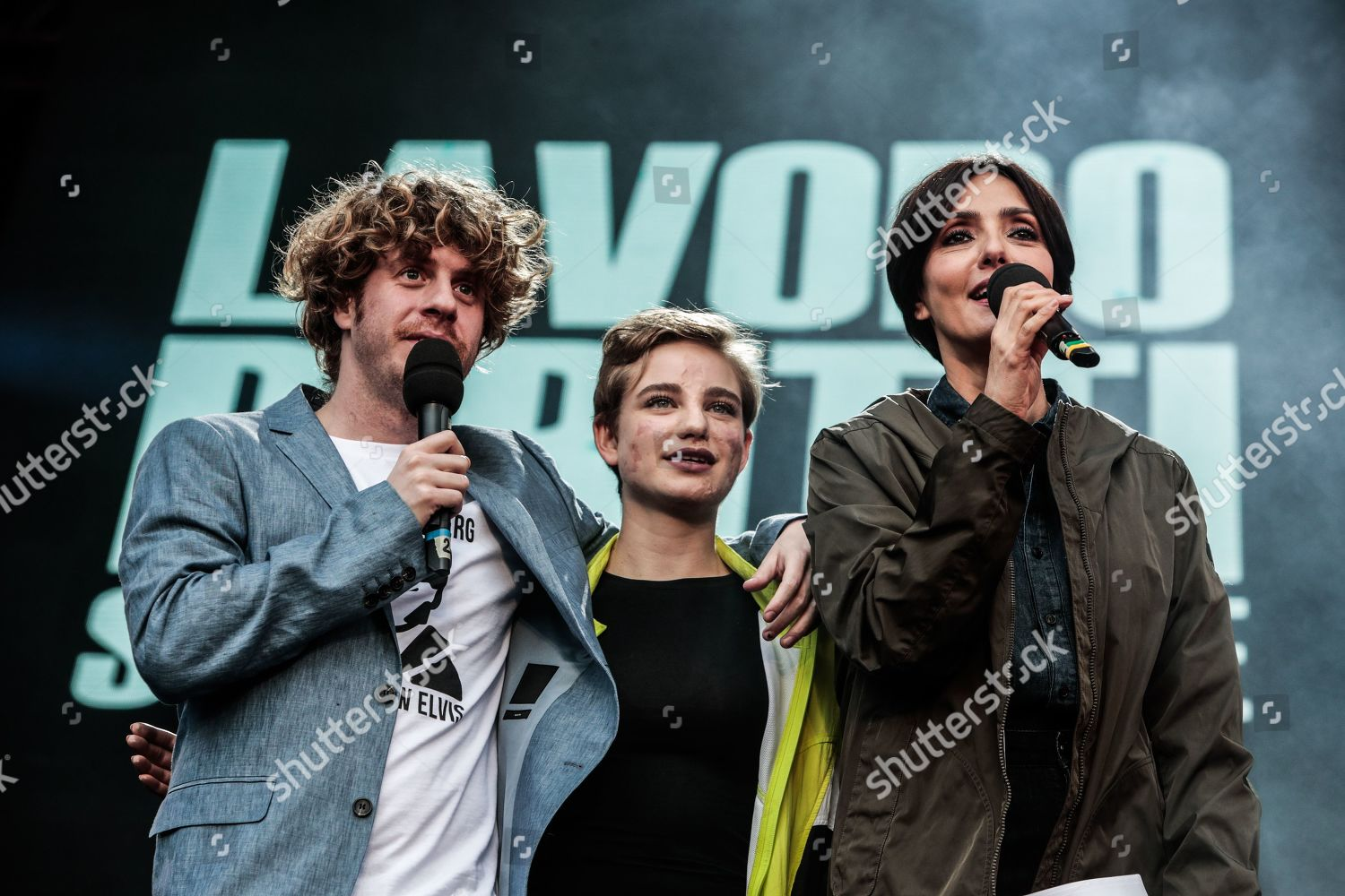 Stock photo of May Day concert, Piazza San Giovanni, Rome, Italy - 01 May 2019
