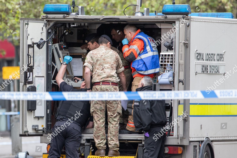 Bomb disposal unit scene Editorial Stock Photo - Stock Image
