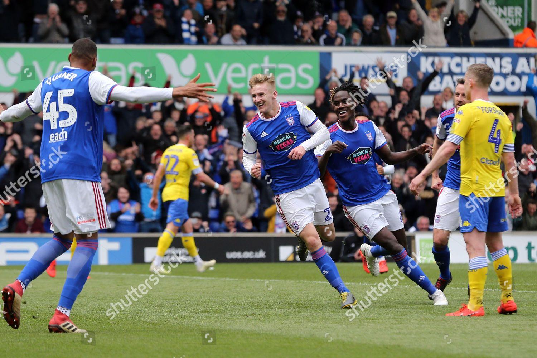 Flynn Downes Ipswich Town celebrates scoring first Editorial