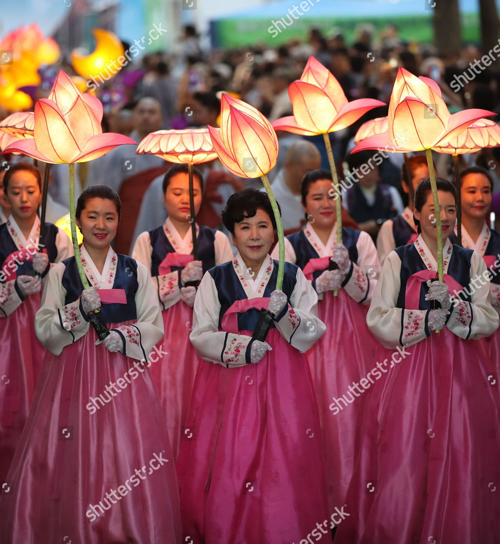Lotus Lantern Festival Underway Ahead Buddhas Birthday Editorial Stock Photo Stock Image Shutterstock
