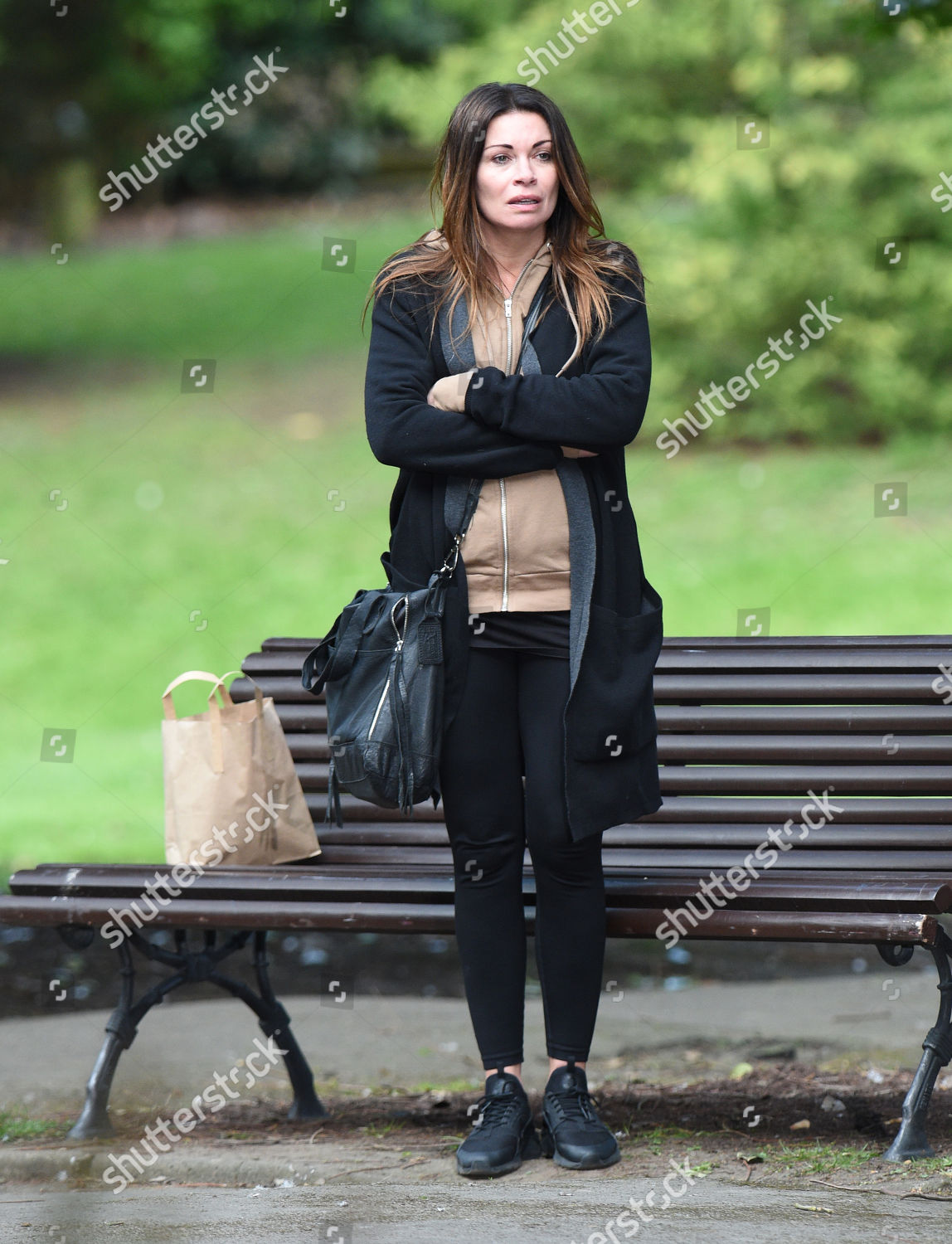 Alison King filming her role Carla Connor Editorial Stock Photo