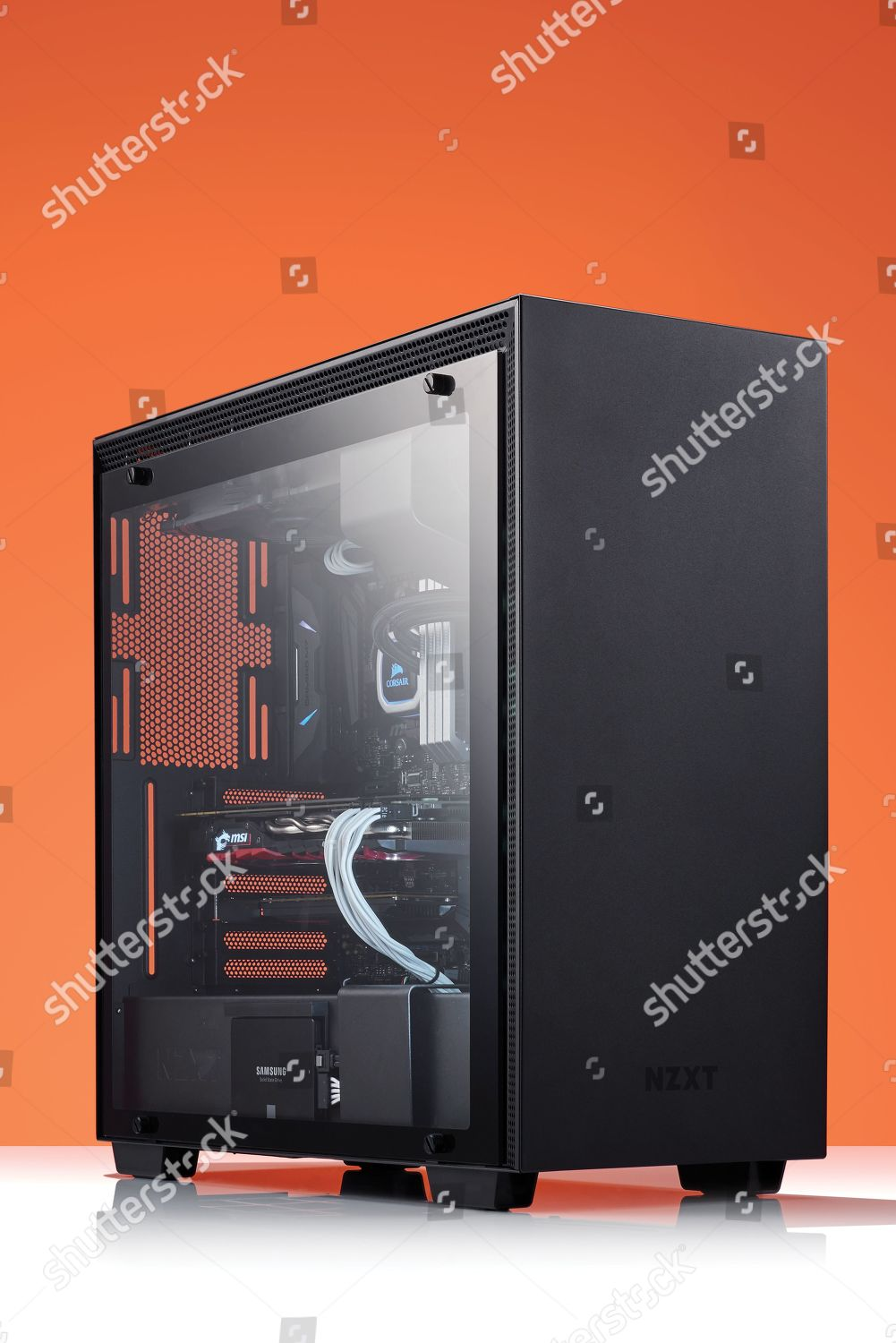Custom Build Gaming Pc Nzxt H700i Case Editorial Stock Photo Stock Image Shutterstock