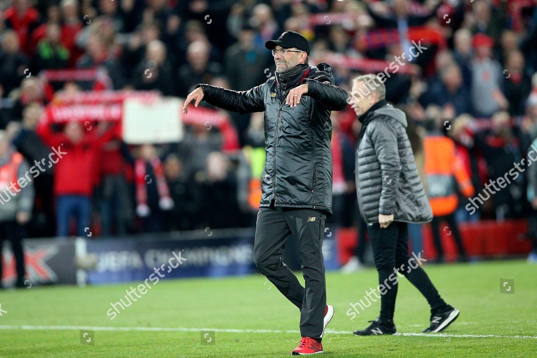 Liverpool Manager Jurgen Klopp conducts Kop song Editorial