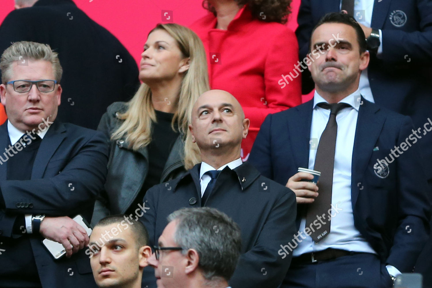 Spurs chairman Daniel Levy before AFC Ajax Editorial Stock Photo