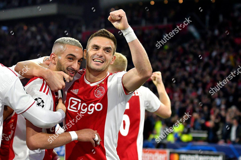 Hakim Ziyech Ajax Dusan Tadic Ajax Editorial Stock Photo