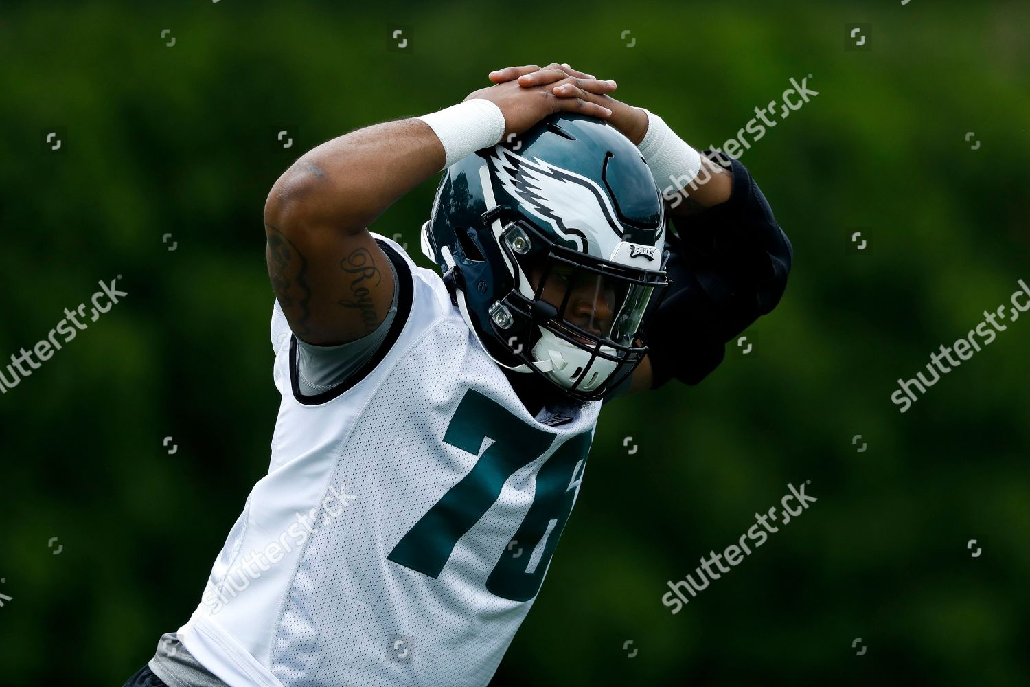 low priced 55ec5 5989f Philadelphia Eagles Shareef Miller drills during rookie ...