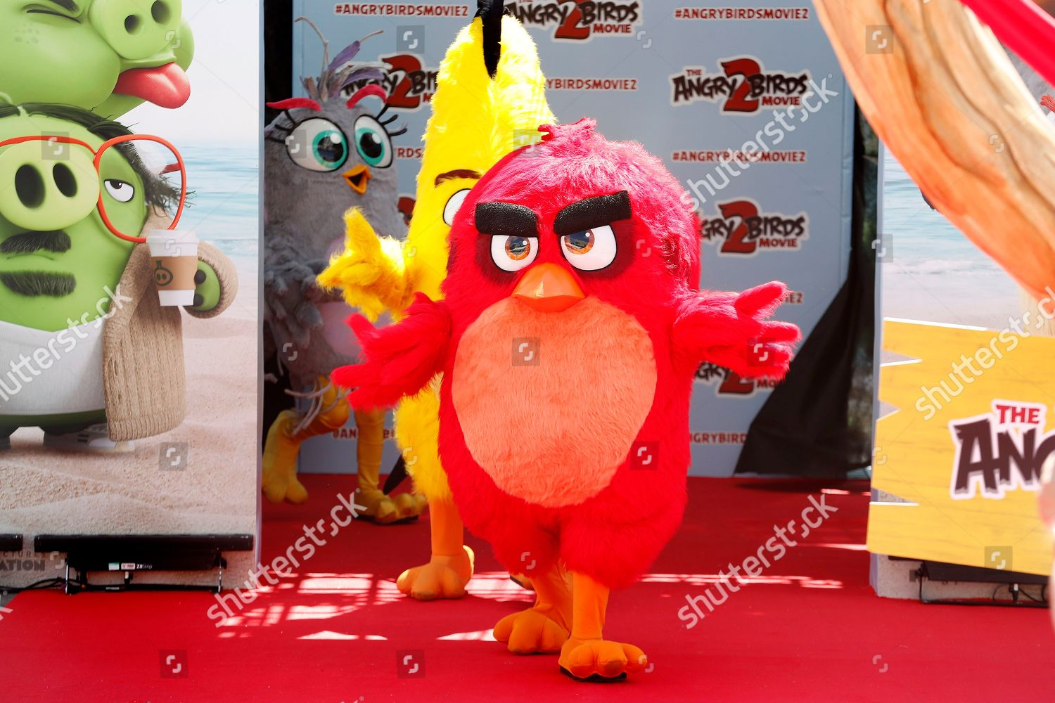 Angrys Birds characters arrive photocall The Angry Editorial