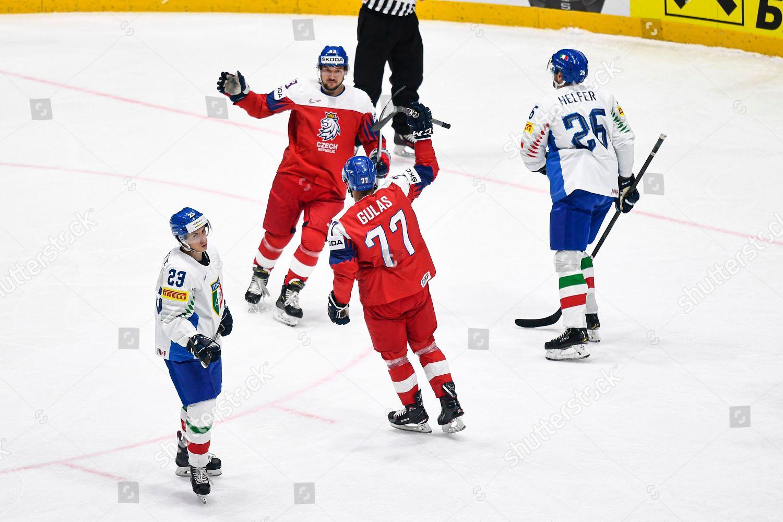 Milan Gulas Czech Republic Celebrates Teammates After Editorial