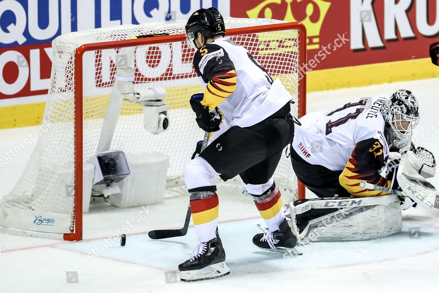 Korbinian Holzer Germany L Action During Iihf Editorial Stock Photo