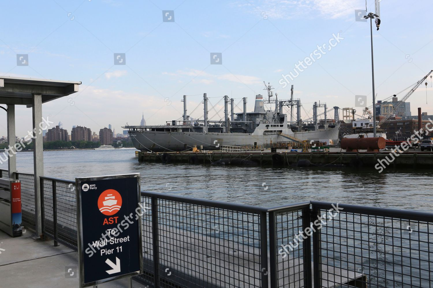 NYC Ferry opened Brooklyn Navy Yard stop Editorial Stock