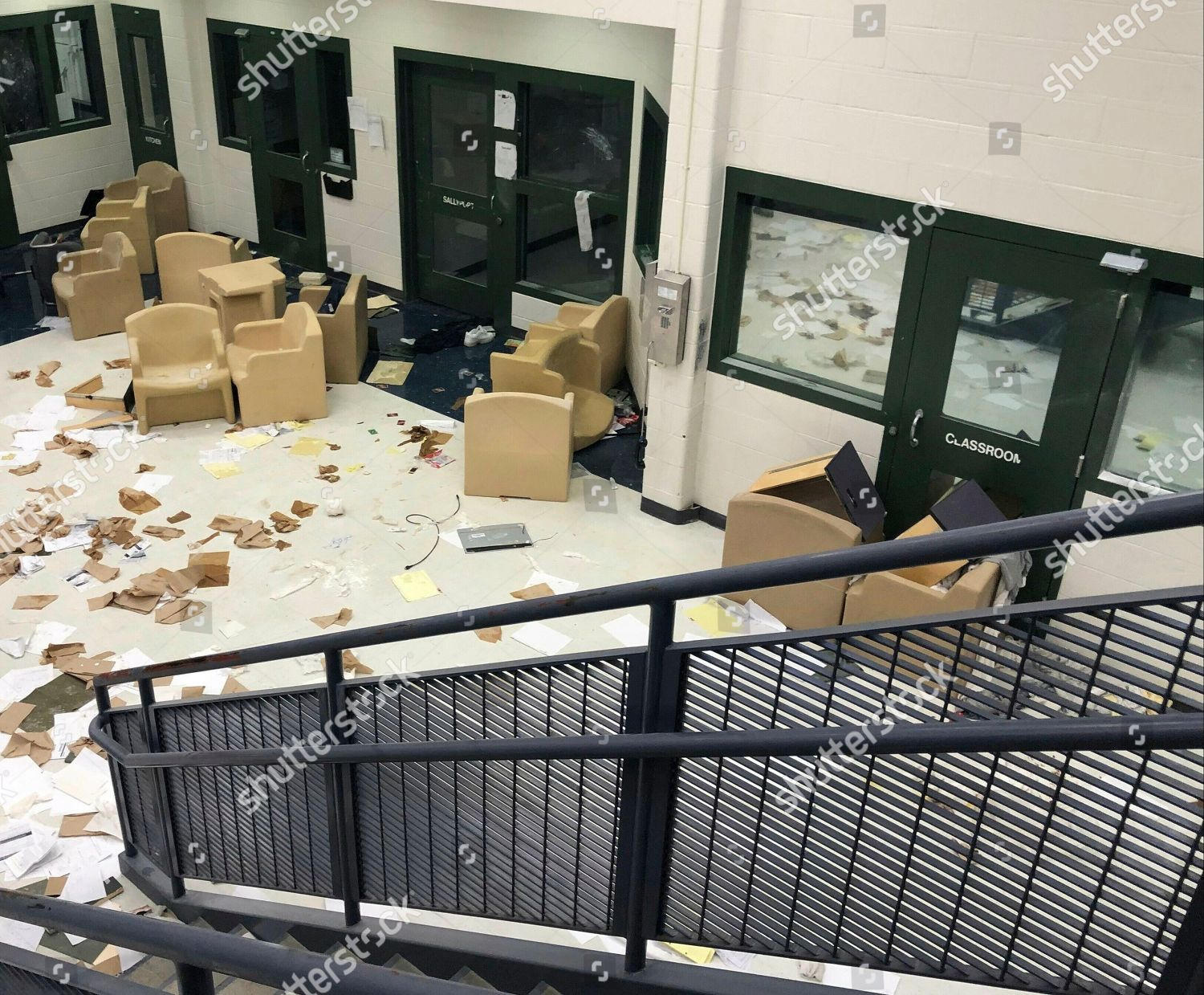 Provided By Kansas Department Corrections Shows Damage
