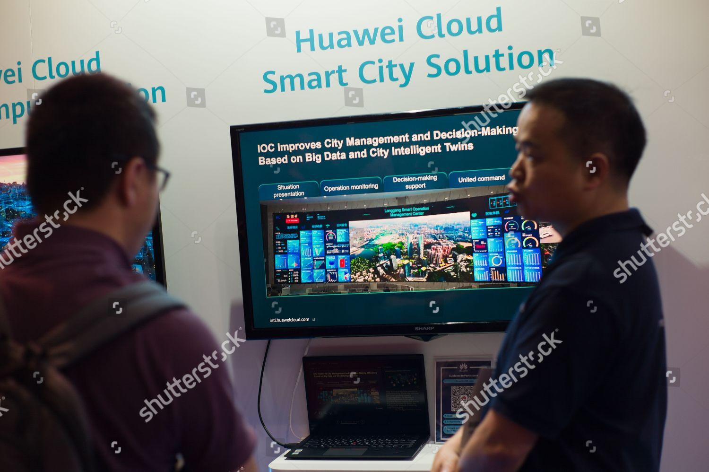 Huawei Technologies Co Ltd staff R speaks Editorial Stock