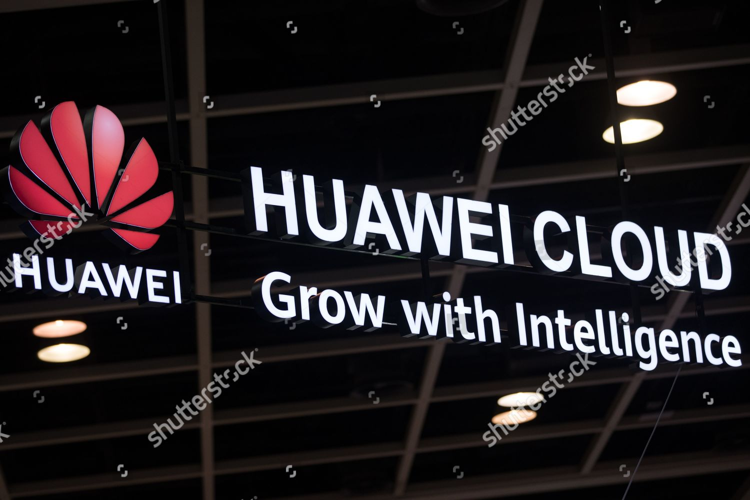 Huawei Technologies Co Ltd logo displayed companys Editorial
