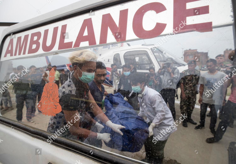 Nepalese trekking staff policemen shift dead bodies