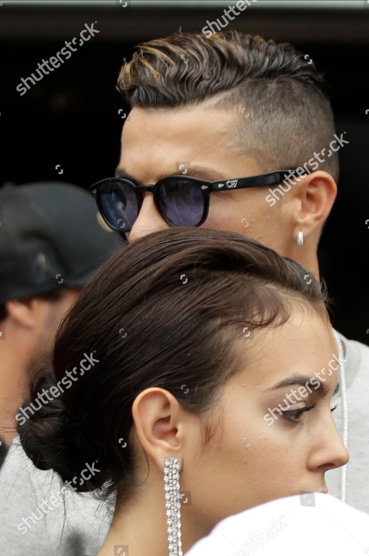 Cristiano Ronaldo His Partner Georgina Rodriguez Walk Editorial
