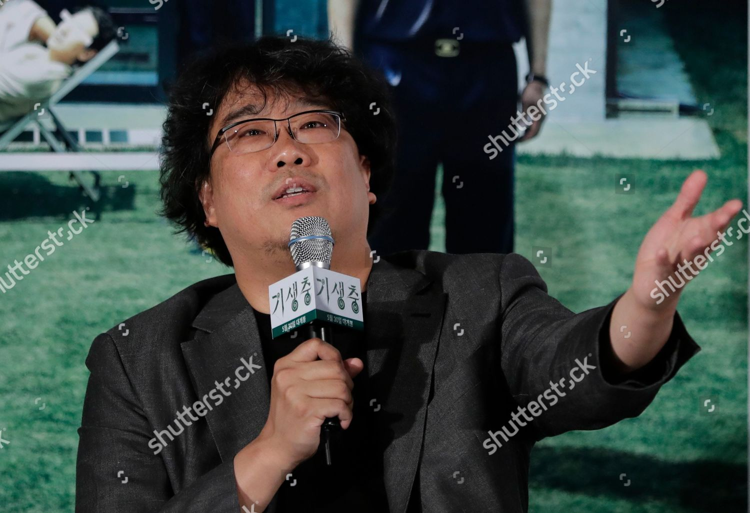 South Korean director Bong Joonho answers reporters Editorial Stock