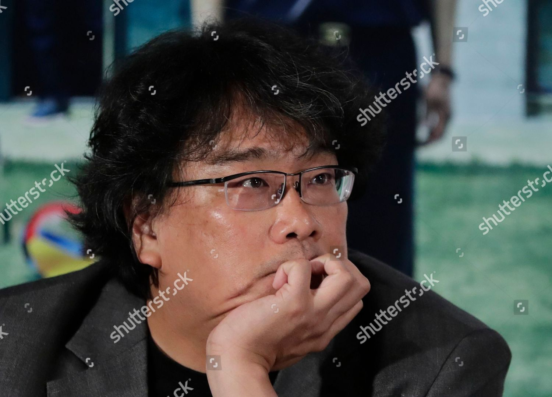 South Korean director Bong Joonho attends press Editorial Stock