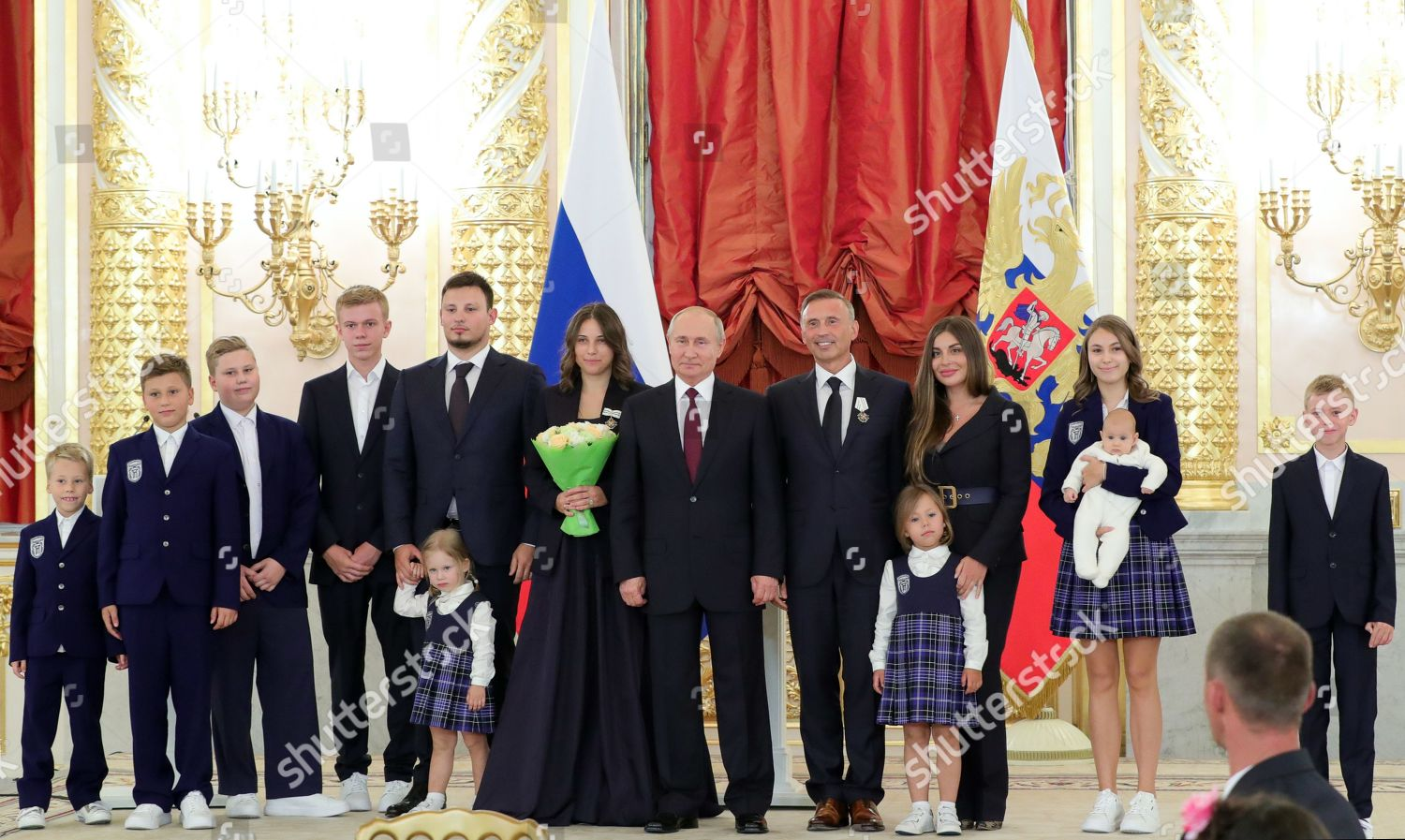 Russian President Vladimir Putin Poses Dmitriev Family Editorial Stock Photo Stock Image Shutterstock