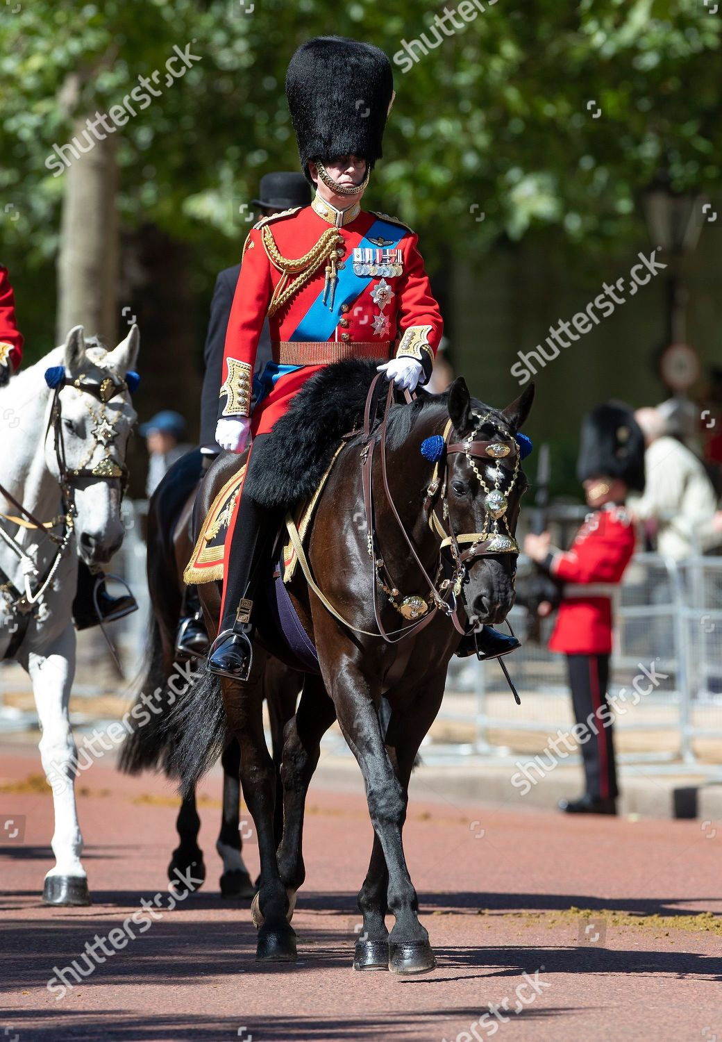 Prince Andrew takes part Trooping Colour Colonels Editorial