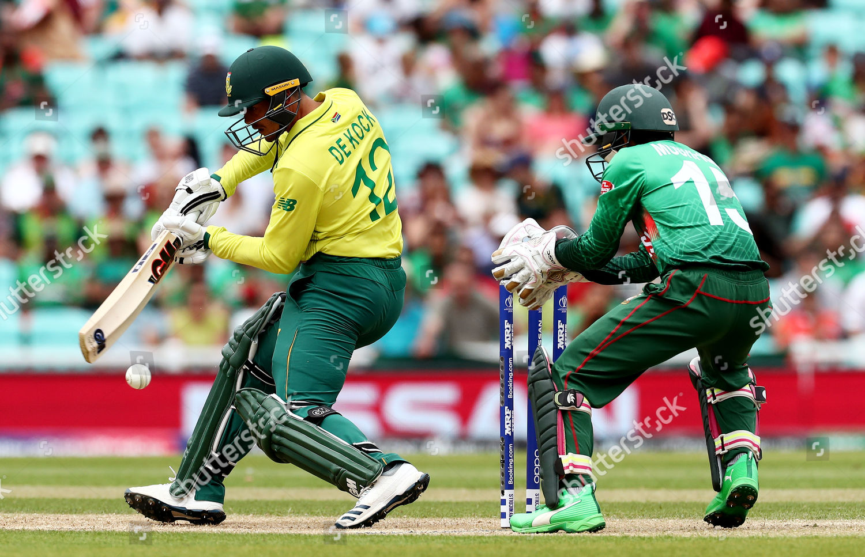 Quinton de Kock South Africa batting action Editorial Stock Photo