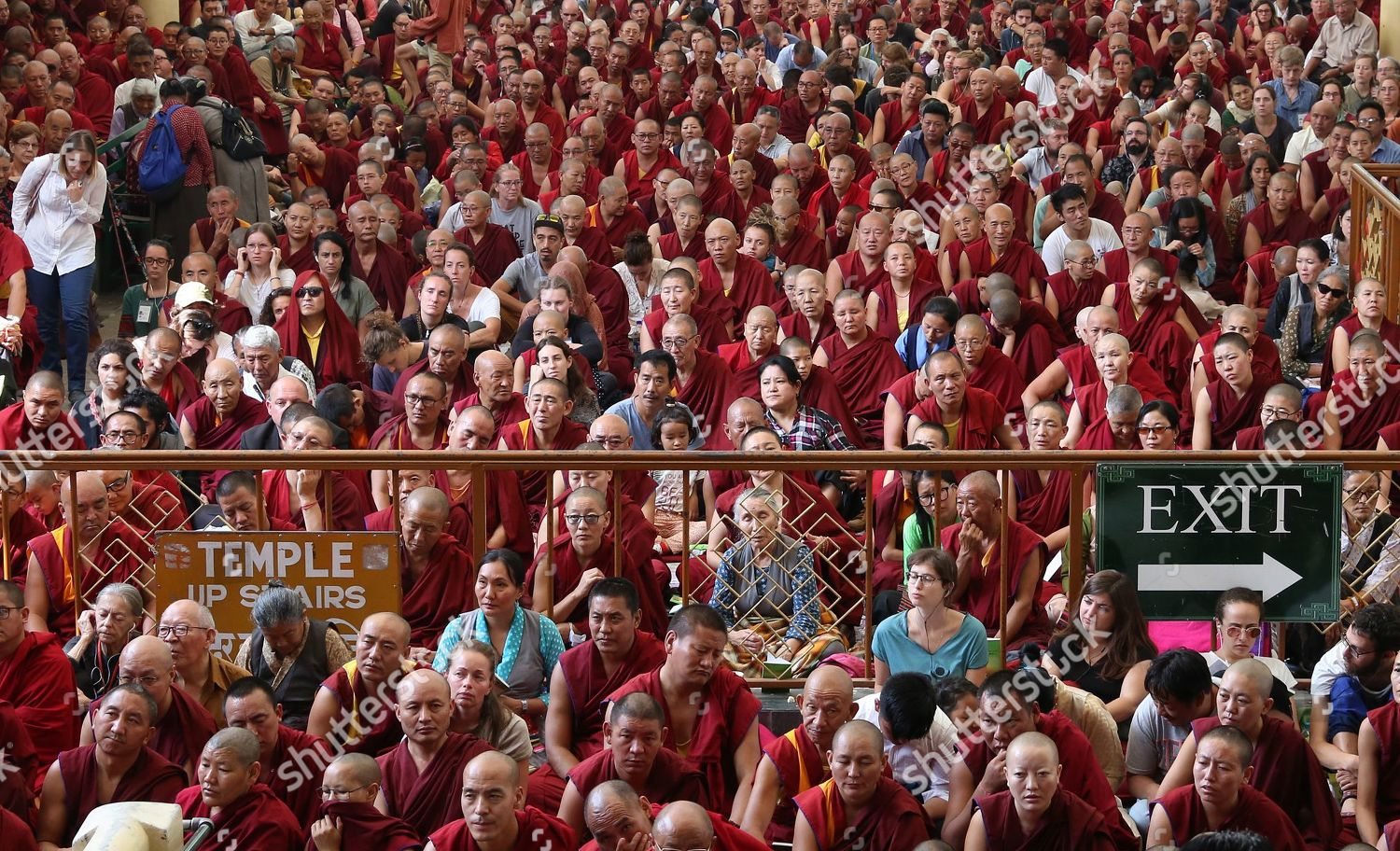 Buddhist followers attend oneday teaching event by Editorial Stock