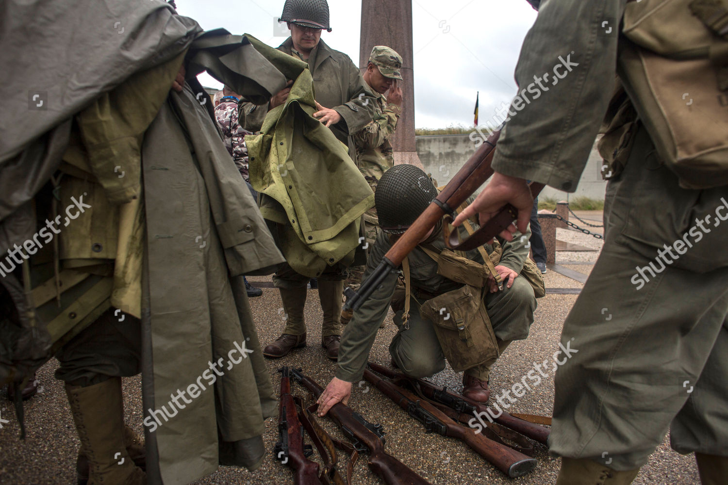 World War Ii Enthusiasts Members Us Army Editorial Stock