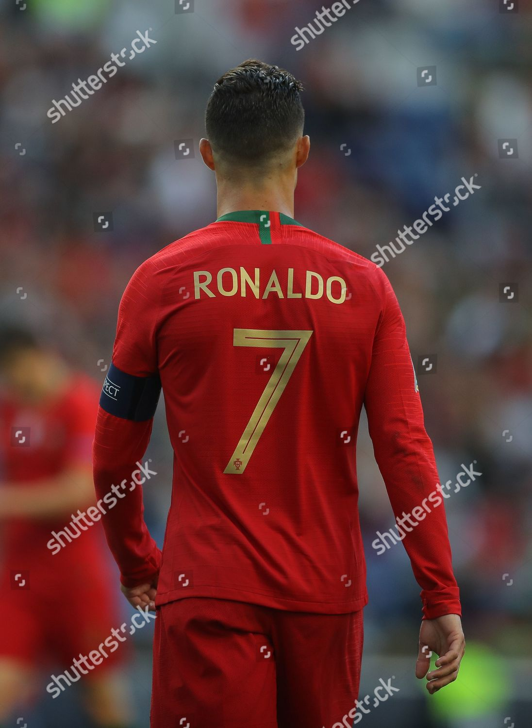 Shirt Back Cristiano Ronaldo Portugal Wearing Number Editorial Stock Photo Stock Image Shutterstock