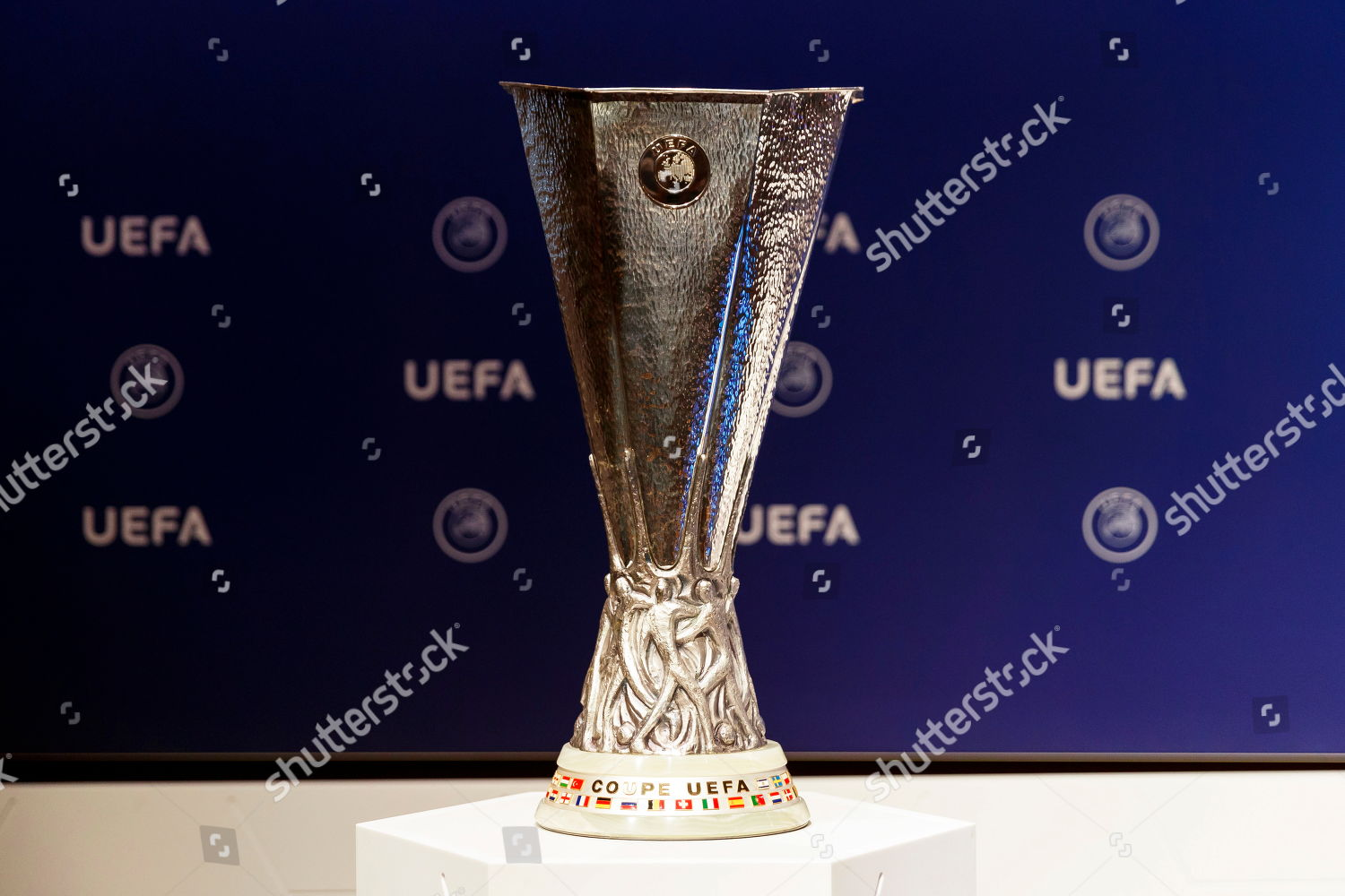 europa league trophy on display during draw editorial stock photo stock image shutterstock https www shutterstock com editorial image editorial uefa europa league 201920 preliminary round draw nyon switzerland 11 jun 2019 10302147b