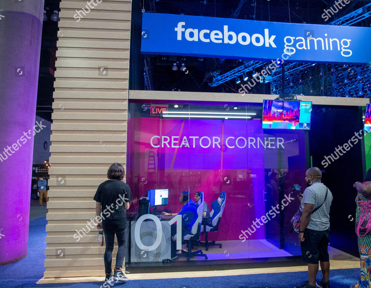 Attendees create games Facebook gaming area during Editorial